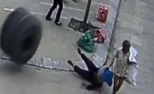 זירת התאונה בסין