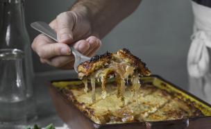 מאפה לבנוני - בורגול ותפוחי אדמה (צילום: אנטולי מיכאלו ,אוכל טוב)