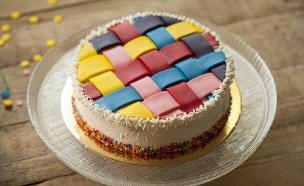 עוגת משבצות צבעונית  (צילום: אפיק גבאי ,אוכל טוב)