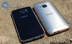 גלקסי S6 וה-HTC One M9 (צילום: tgspot.co.il)