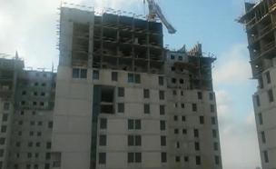 הסטודנטים נגד עבודות הבנייה (צילום: חדשות 2)