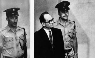 אייכמן במשפטו בישראל, 1961 (צילום: AP)