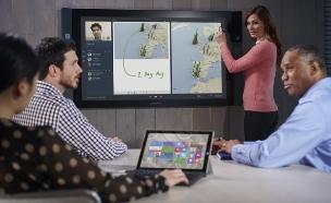 מחשב ה-Surface Hub של מיקרוסופט (צילום: מיקרוסופט ,מיקרוסופט)