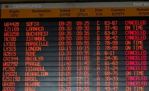 לוח טיסות נתבג (צילום: אבישג שאר-ישוב)