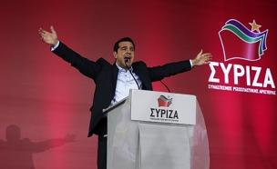 המתמודד היווני אלכסיס ציפרס (צילום: חדשות 2)