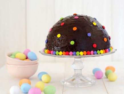 עוגת חצי כדור ללא אפייה (צילום: שרית נובק ,אוכל טוב)