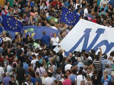 האם יוון תפרוש מגוש האירו? (צילום: רויטרס)