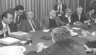 """ישיבת הממשלה שהצילה את המשק (צילום: חנניה הרמן, באדיבות לע""""מ)"""