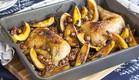 עוף צלוי על אורז אדום ודלעת ערמונים (צילום: אסף אמברם ,אוכל טוב)