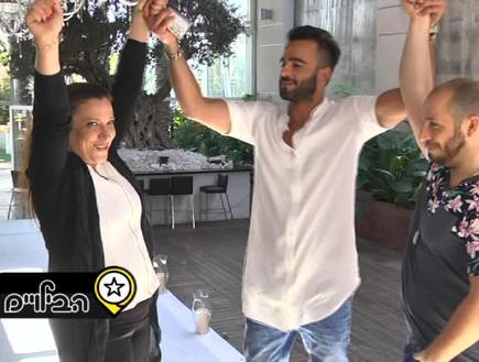 אליאב, איציק וענבל בוחרים די ג'יי (צילום: מתוך הבילויים ,ערוץ 24)