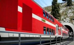 """הצצה לקו הרכבת המהיר ת""""א-ירושלים (צילום: רכבת ישראל)"""
