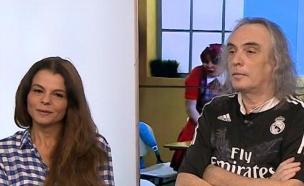 צביקה פיק ורינת גבאי באולפן (צילום: מתוך הבילויים ,ערוץ 24)