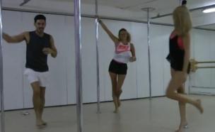רז ואלכסה רוקדים על עמוד (צילום: הבילויים ,ערוץ 24)