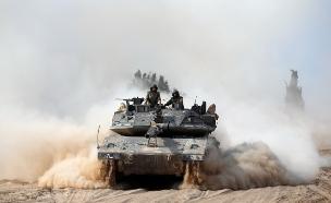 טנק, עזה (צילום: רויטרס)
