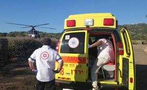 """4 פצועים קשה פונו באמצעות מסוקים. אילוסטרציה (צילום: דוברות מד""""א)"""