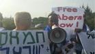 מפגינים למען מנגיסטו, הבוקר (צילום: ברהנו טגניה)