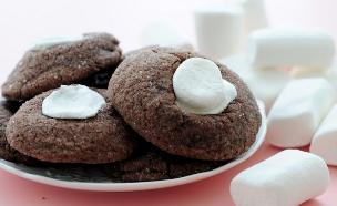 עוגיות שוקולד ומרשמלו (צילום: שרית נובק ,אוכל טוב)