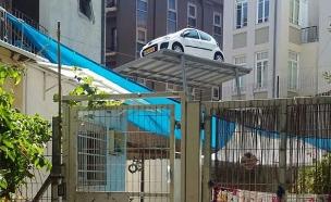 המתקן מעל גן הילדים (צילום: עזרי עמרם, חדשות 2)