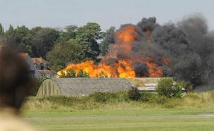 פיצוץ ממטוס שהתרסק (צילום: חדשות 2)