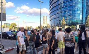 הפגנה ברחוב נחמני בתל אביב (צילום: גל אוחובסקי ,mako)