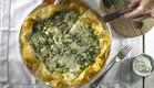 מתכון שבת צמחונית: מאפה פילו עם תרד, אורז וגבינות