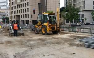 עבודות בניית הרכבת הקלה בתל אביב, ארכיון (צילום: חדשות 2)