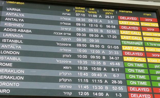 טיסות רבות נדחו (צילום: עזרי עמרם, חדשות 2)