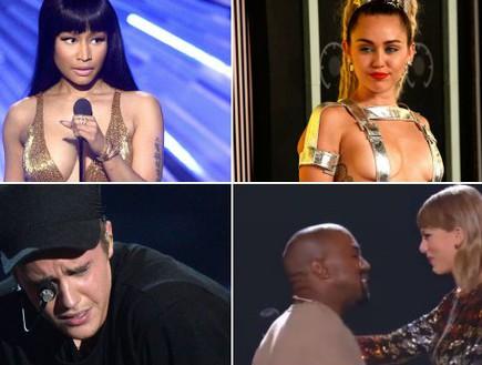 קולאז' VMA 2015 (צילום: getty images, צילום מסך ,יחסי ציבור)