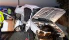 זירת התאונה (צילום: פוראת נסאר)