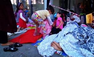 """""""לא ייתכן שילדים ישכבו ברחוב"""" (צילום: חדשות 2)"""