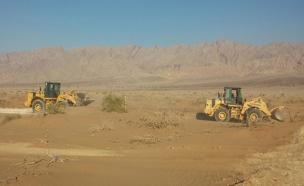 """מכשול לאורך 30 ק""""מ. אתר הקמת הגדר (צילום: משרד הביטחון)"""