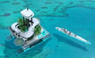 אי מלאכותי (צילום: Migaloo Private Submarines)