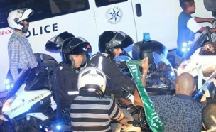 """""""לסגור כבישים זו לא הדרך"""". ההפגנה אמש (צילום: yaffa48.com)"""