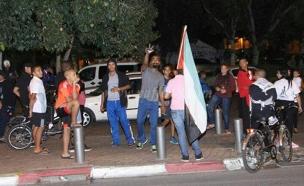 הפגנות ביפו (צילום: חדשות 2)