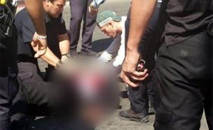 """הדיווח למד""""א על הפצוע בפיגוע (צילום: מדברים תקשורת)"""