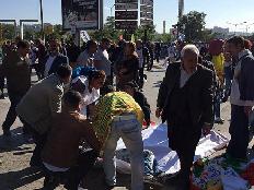 זירת האירוע באנקרה, היום (צילום: cnn turk)