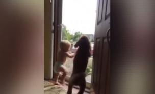 תינוק וכלב (צילום: יוטיוב)