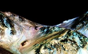 מים זורמים בכוכב האדום (צילום: nasa)