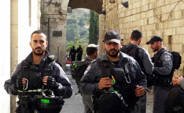 שוטרים בירושלים (צילום: חדשות 2)
