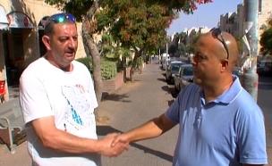 מפגש שכנים לאחר הפיגוע (צילום: חדשות 2)