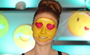 אימוג'י אנושית (צילום: יוטיוב  ,מעריב לנוער)