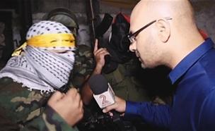 """פרשן פלסטיני: """"מקנא באוהד חמו"""" (צילום: חדשות 2)"""