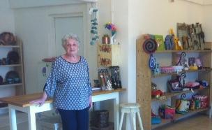 חנות היצירות היפה של גמלאי קיבוץ איילת השחר (צילום: בשיתוף רשת ביתילי ,מאקו)