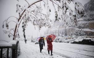 השלג יחזור? י-ם בחורף (צילום: רויטרס)