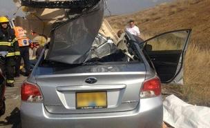 שתי הרוגות בתאונה בכביש 6 (צילום: דוברות מד''א)