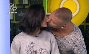 ארליך ואיציק - הנשיקה (צילום: מתוך הבילויים ,ערוץ 24)