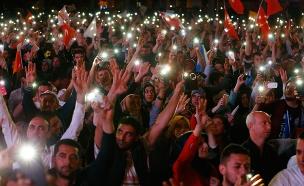 החגיגה שאחרי הבחירות בטורקיה (צילום: רויטרס)