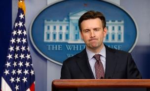 ג'וש ארנסט דובר הבית הלבן (צילום: חדשות 2)