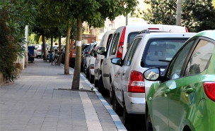 חנייה, חנייה בתל אביב, כחול לבן,רכבים חונים (צילום: חדשות 2)
