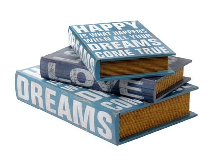 ספרים מעץ המשמשים גם לאחסון, רשת האוס אין (צילום: אייל קרן)